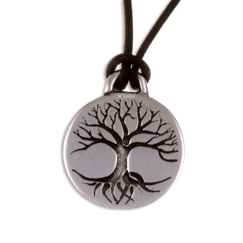 Tree of Life Disc Pendant Necklace