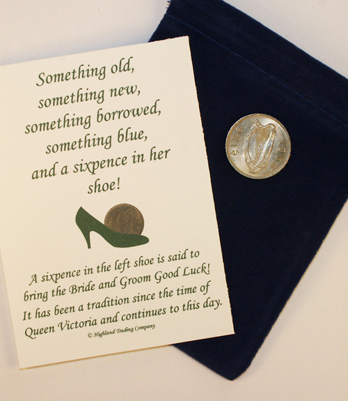 Lucky Irish Sixpence for Wedding