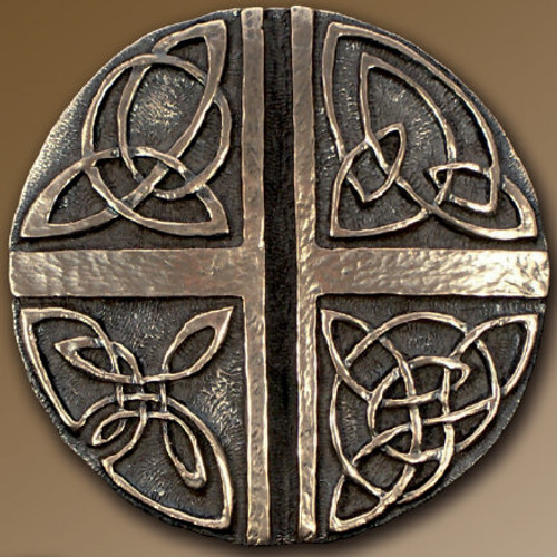 Irish Celtic Love Cross Wall Art