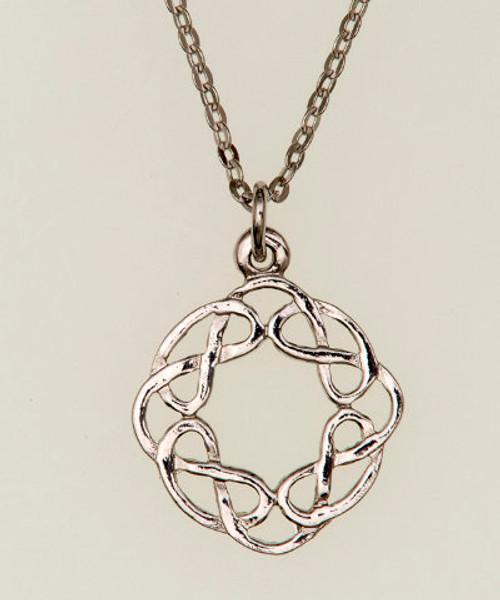 Round Celtic Interlacing Pendant Necklace