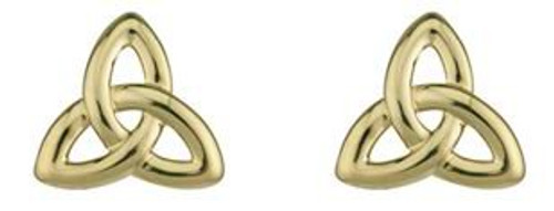 Small Gold Trinity Knot Post Earrings
