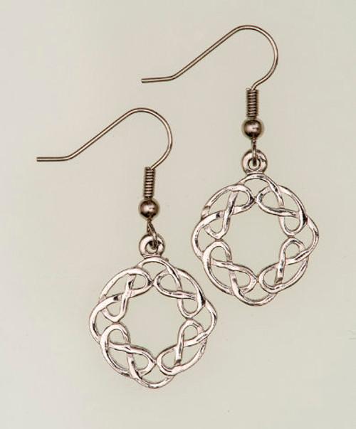 Round Celtic Interlace Earrings