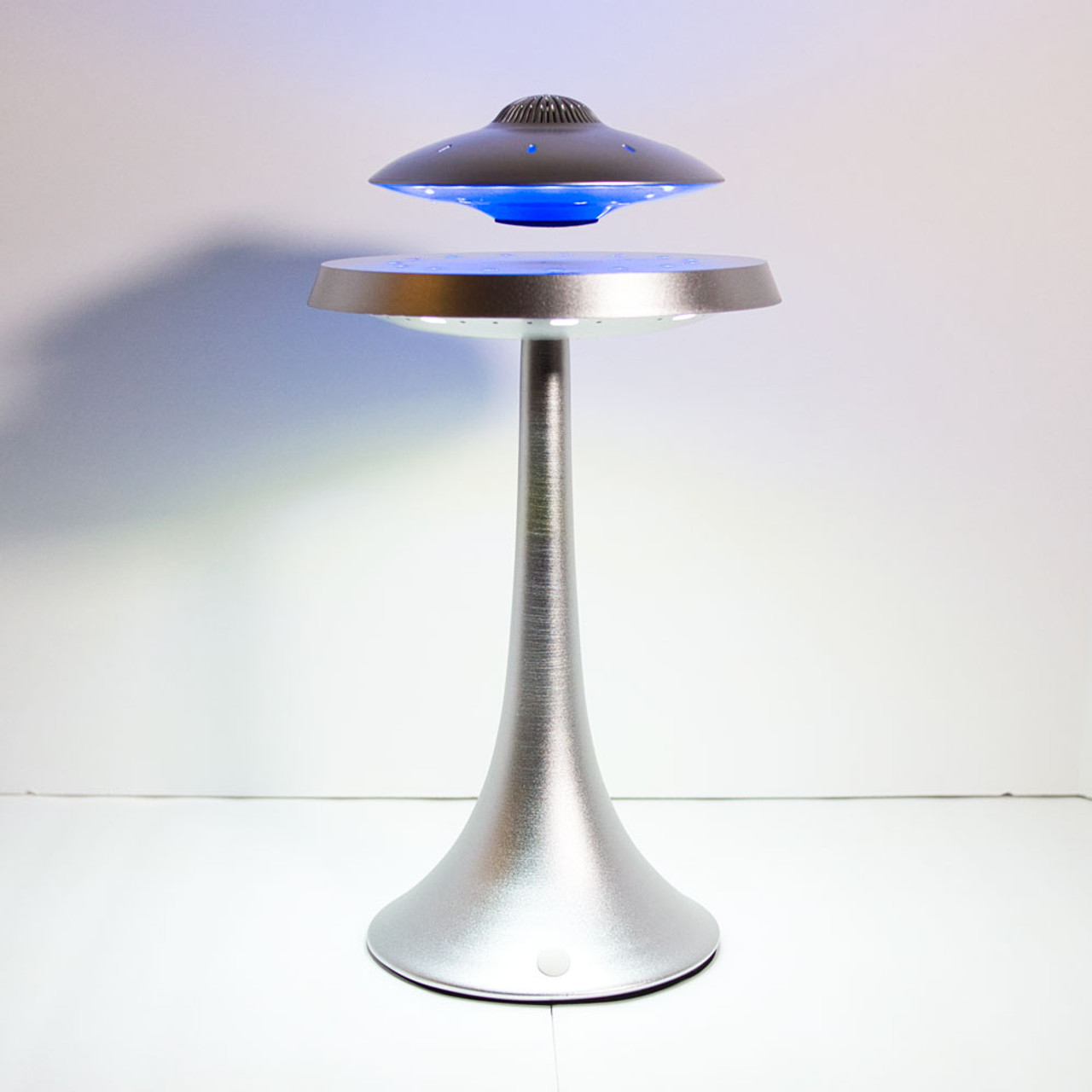 Levitating UFO Bluetooth Speaker Lamp - Silver - The UFO Congress Store