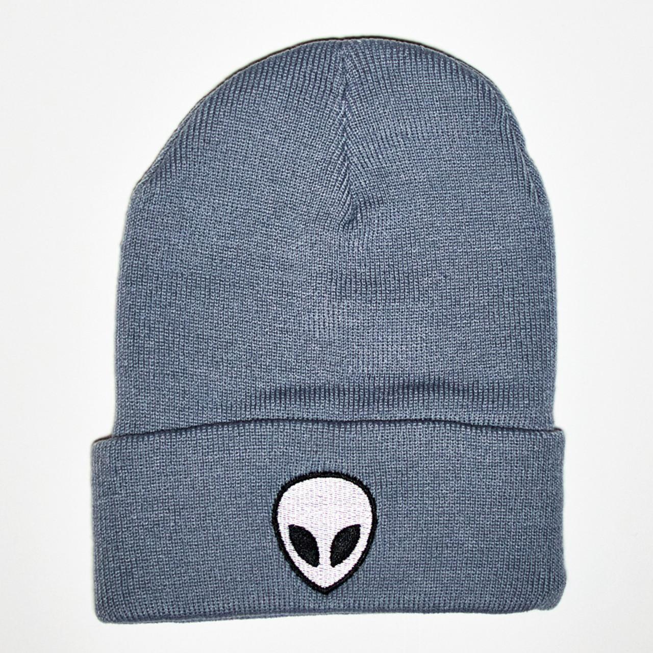 8cbab04707c Alien Beanie - Gray - The UFO Congress Store