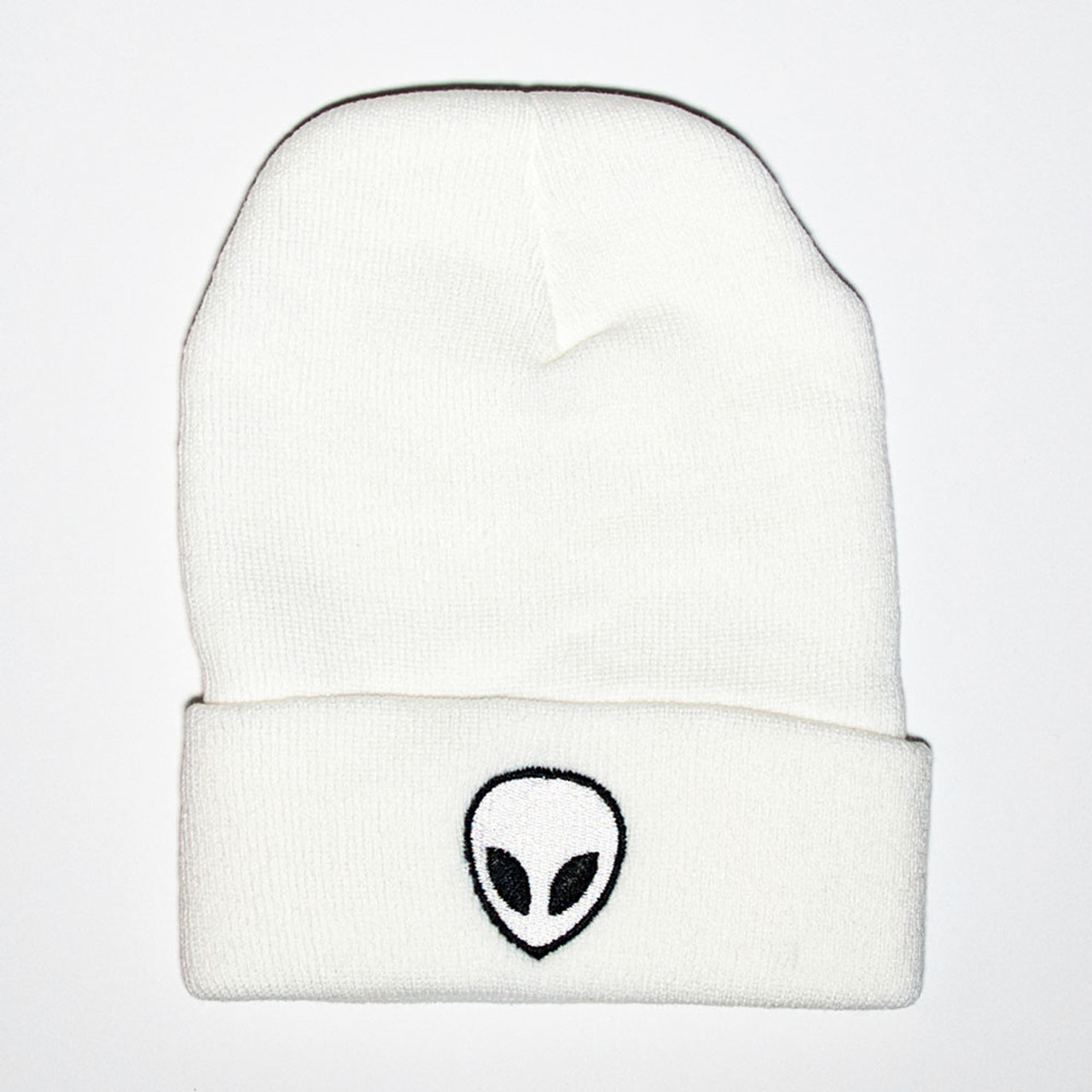 afe7167f417 Alien Beanie - White - The UFO Congress Store