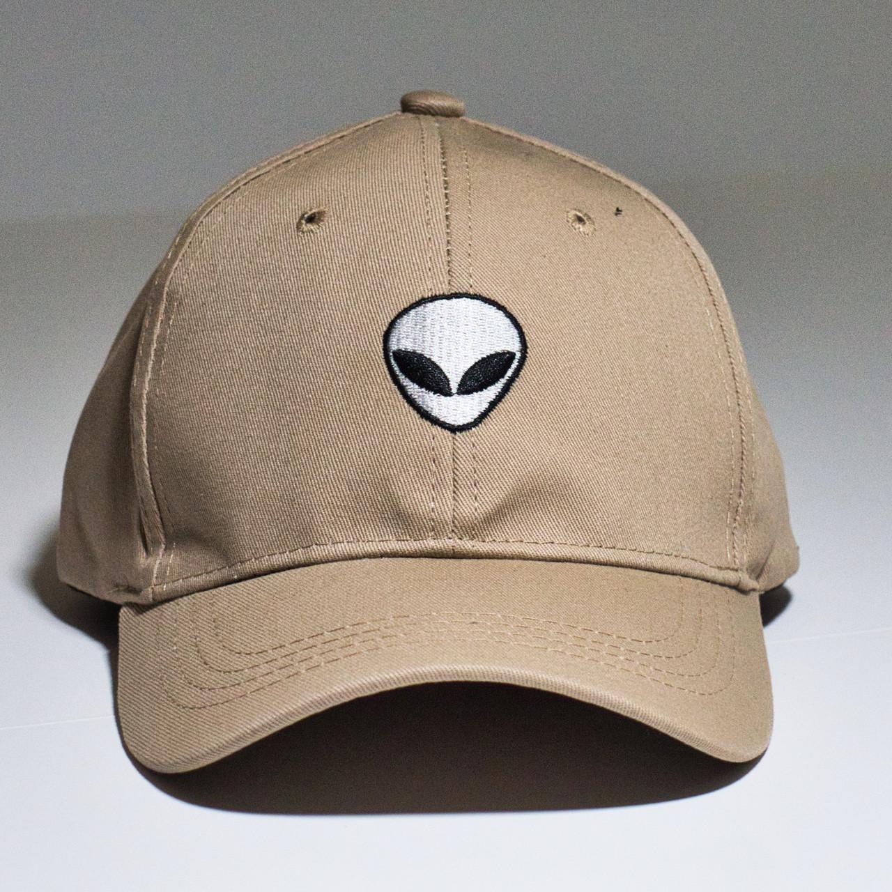b3d93f248ca Alien Baseball Cap - Khaki - The UFO Congress Store