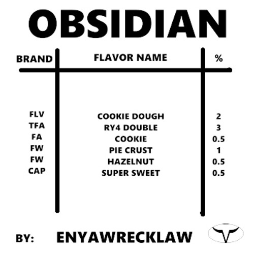 Obsidian By ENYAWREKLAW (Discounted Full Recipe)