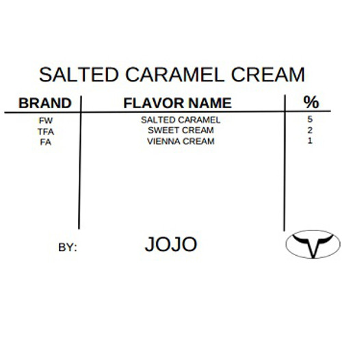 Salted Caramel Cream By JoJo  (Discounted Full Recipe)