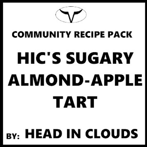 Sugary Almond-Apple Tart by Head In Clouds