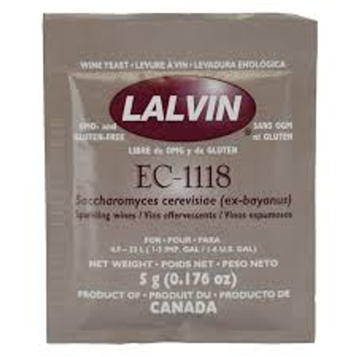 Lalvin EC-1118 Wine Yeast 5gm