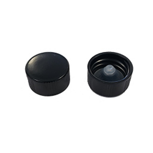 18-400 Black Plastic Cone Cap Pack of 25