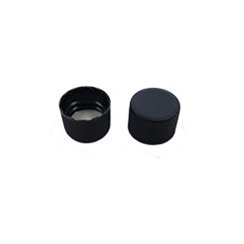 18-400 Black Plastic PE Lined Cap Pack of 25