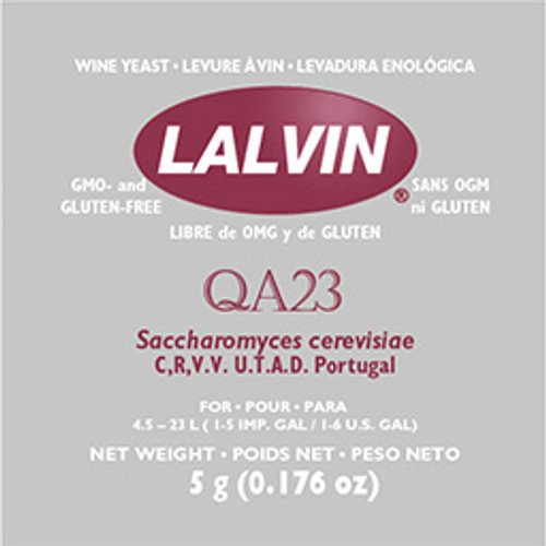Lalvin QA23 Wine Yeast 5gm