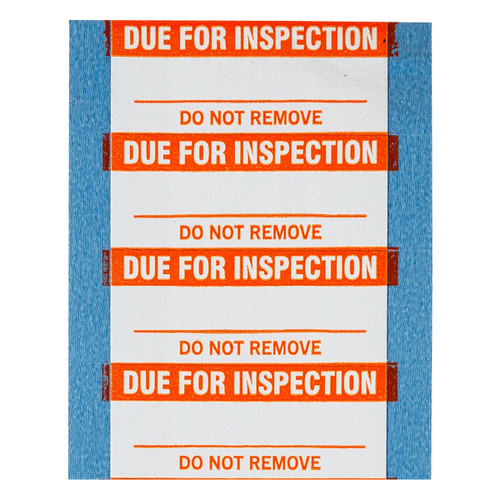 Brady Due for Inspection Write-On Label - WO-20-PK