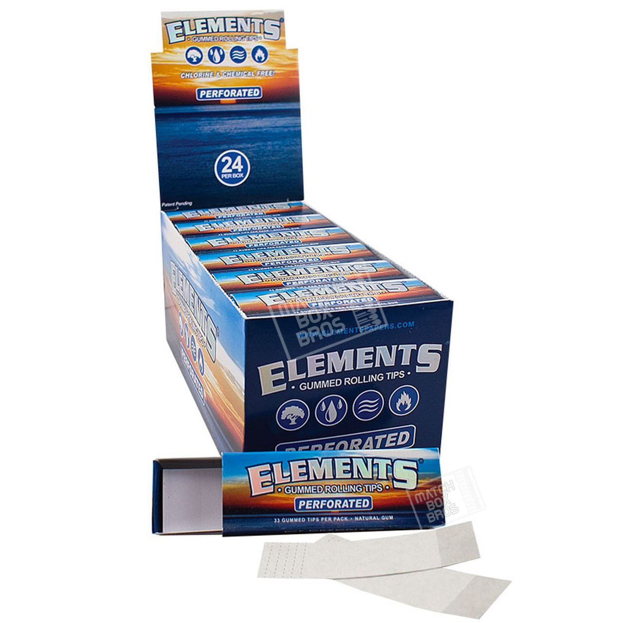 Elements Gummed Tips Perforated Full Box