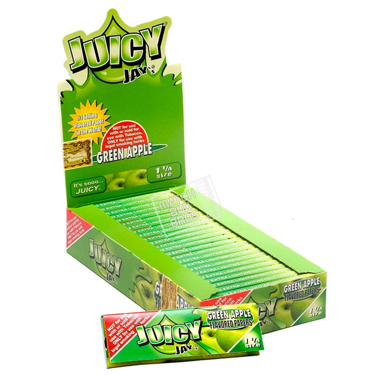 Juicy Jay's 1¼ Green Apple Flavoured Paper