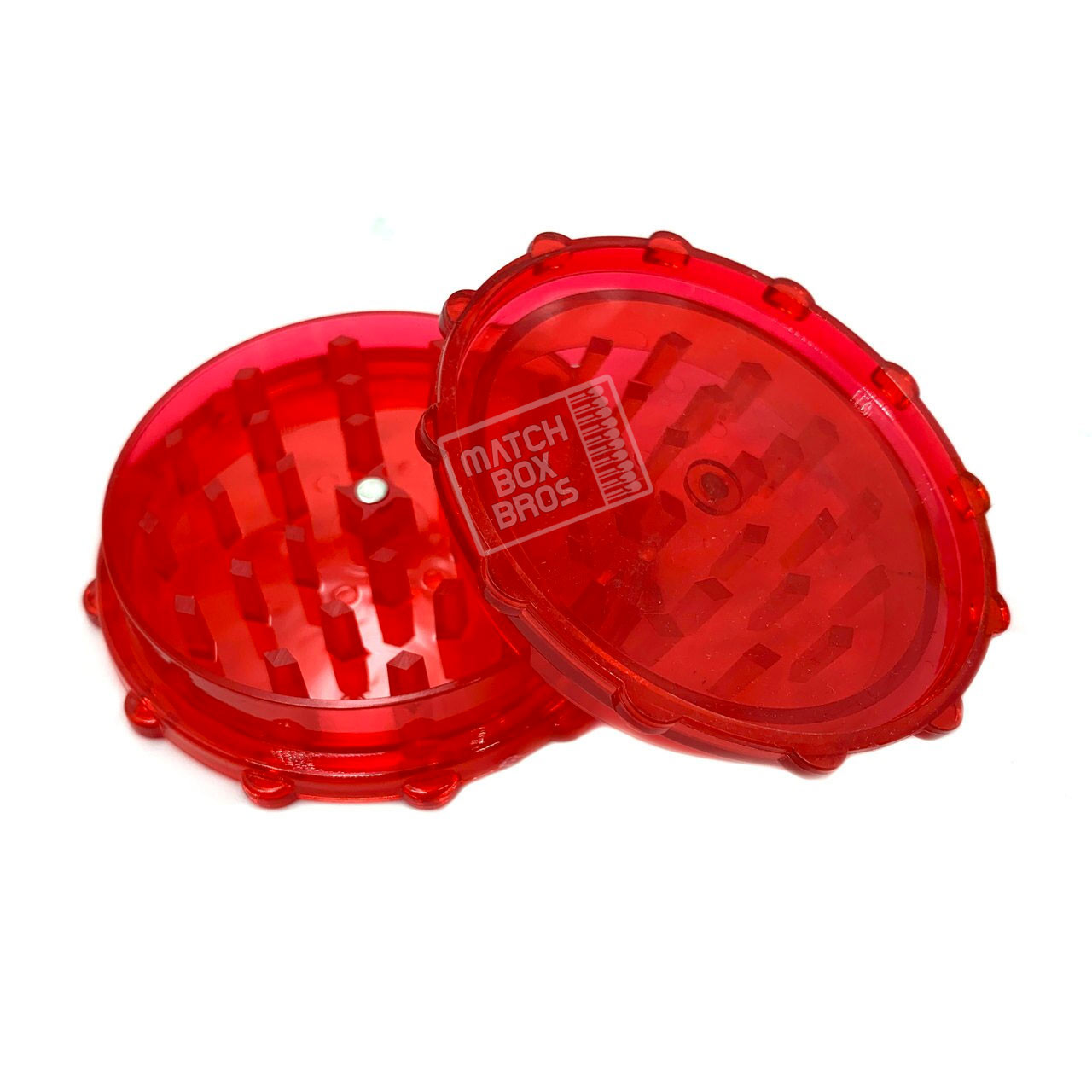 Grinder Acrylic 70mm 2 Part Magnet [GRP122] Red