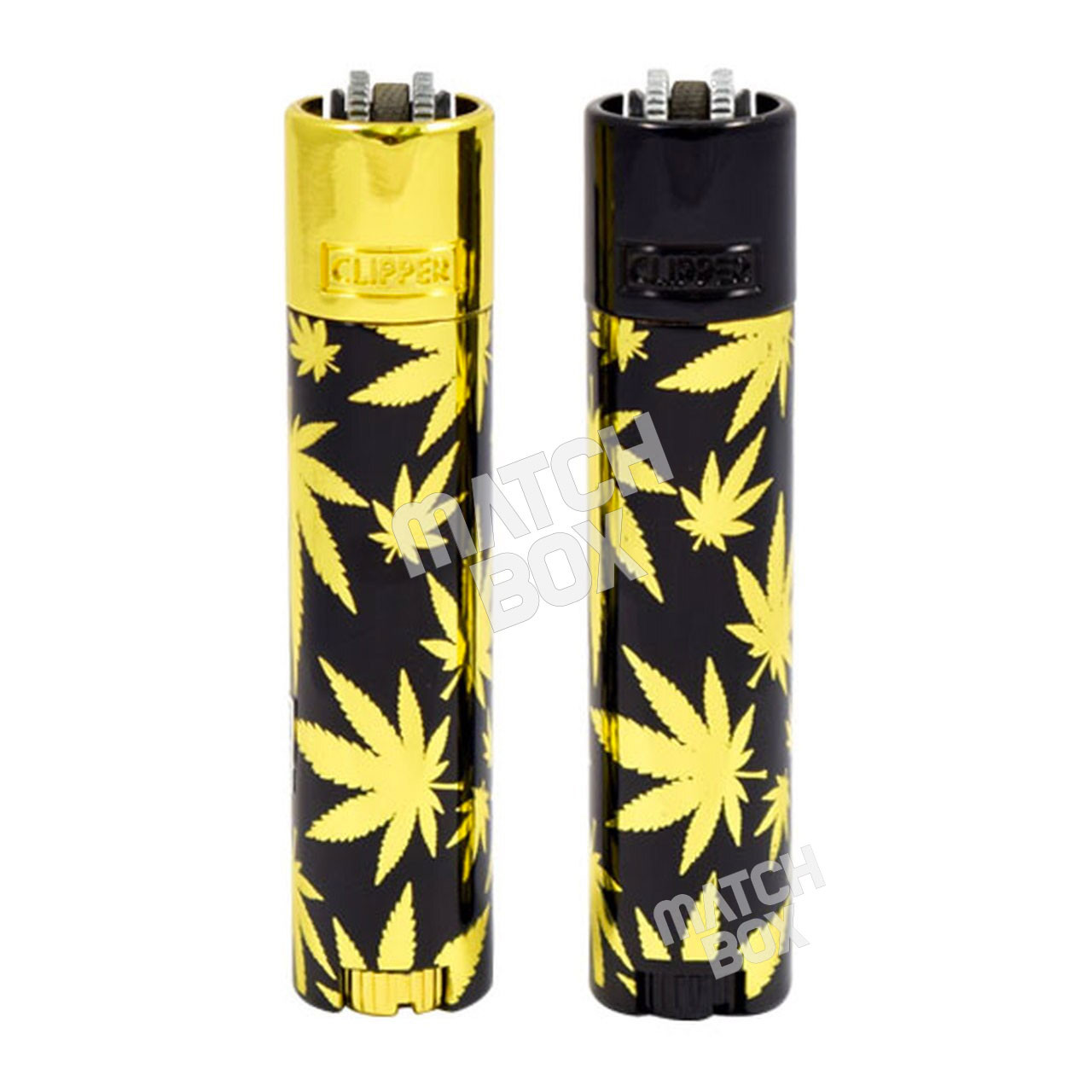 Clipper Metal Gold Leaves Lighter