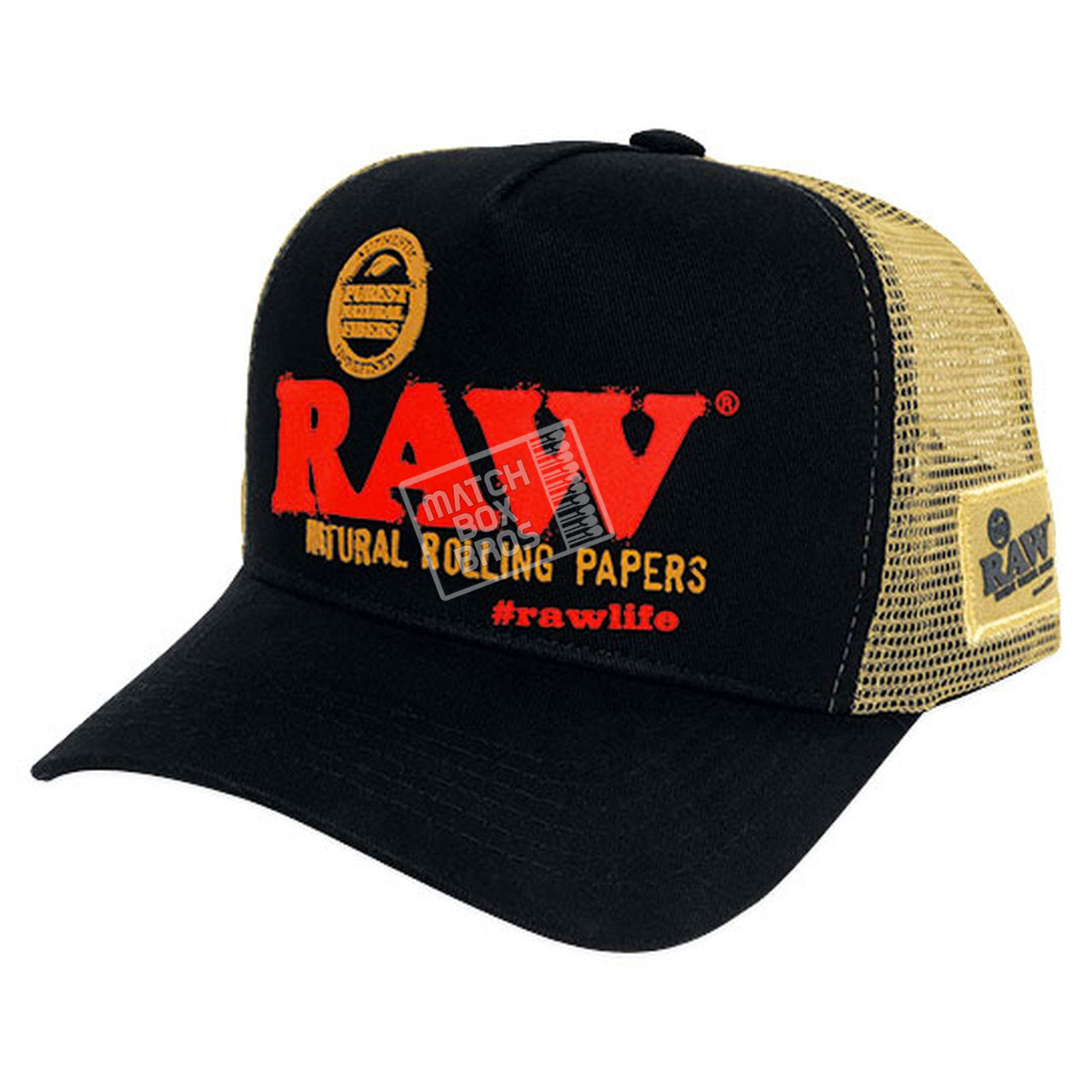 RAW Brazil Black Trucker Hat 01