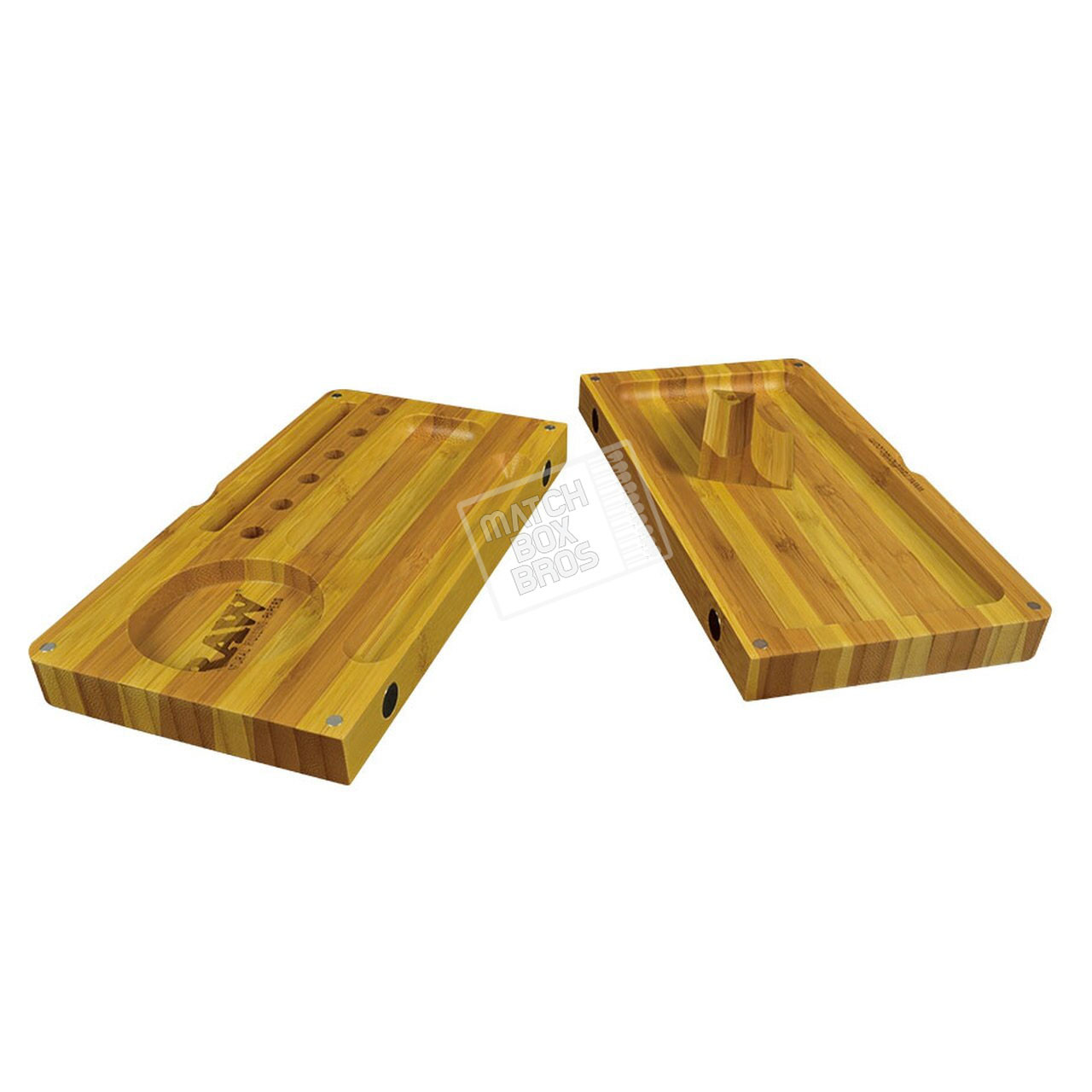 RAW Back Flip Striped Bamboo Rolling Tray 02