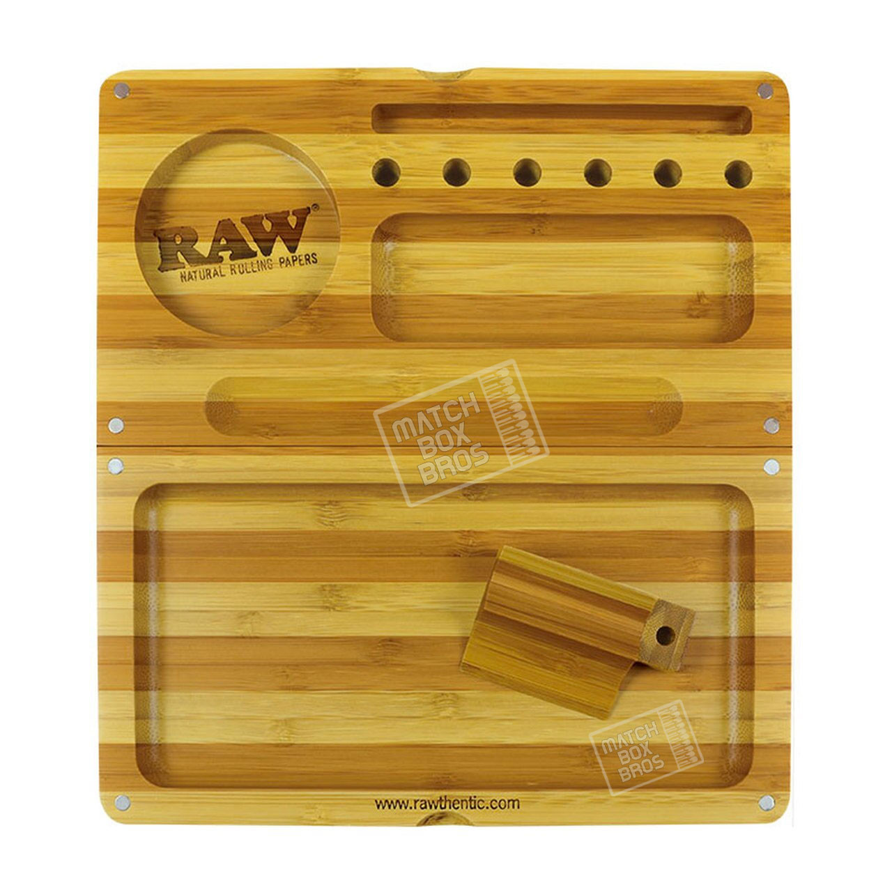 RAW Back Flip Striped Bamboo Rolling Tray 01