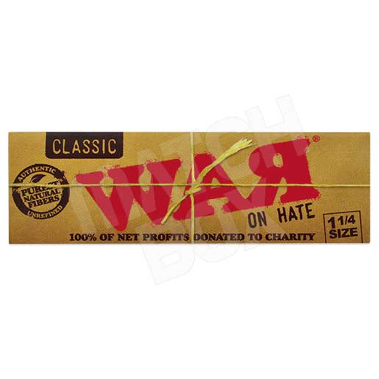 RAW War on Hate 1 1/4 Rolling Paper Single Pack