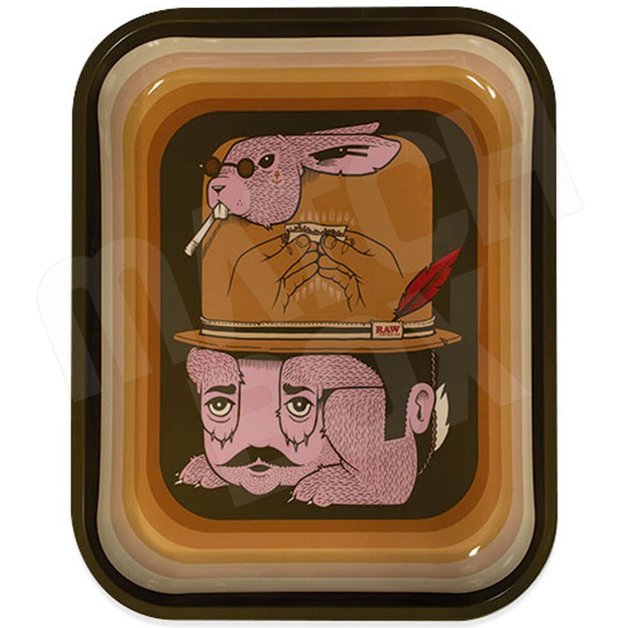 RAW Artist Series Rolling Tray by Jeremy Fish