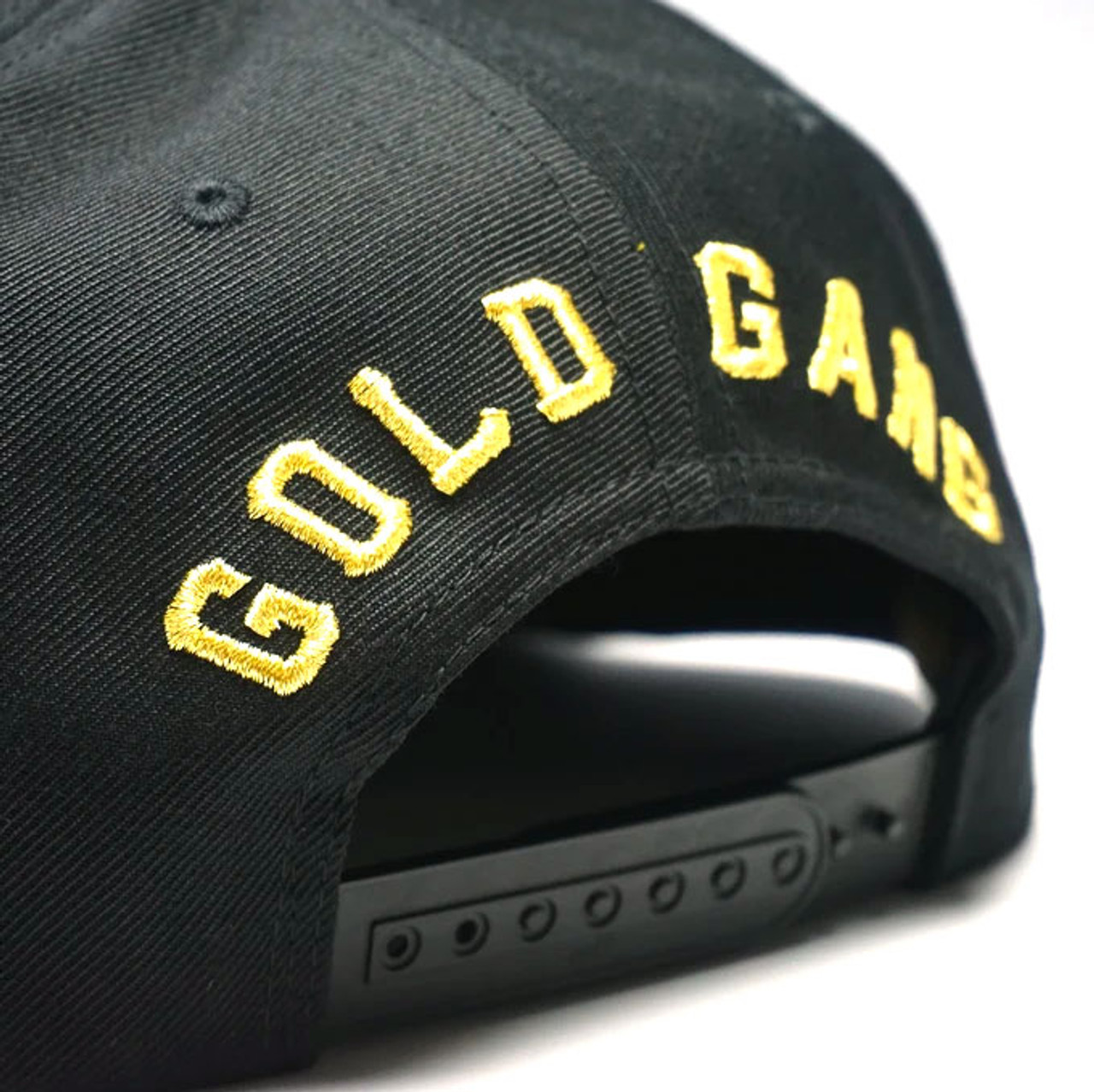 Shine Gold Gang Snapback Hat Back