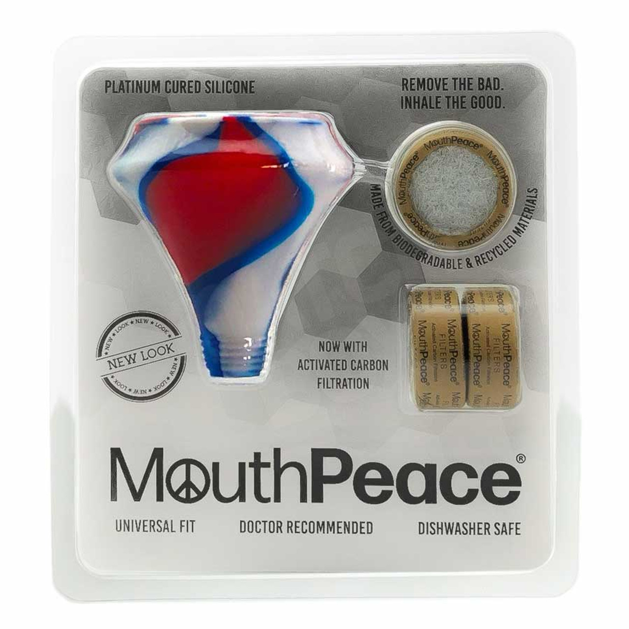 MouthPeace by Moose Labs Starter Kit in Green Red White and Blue
