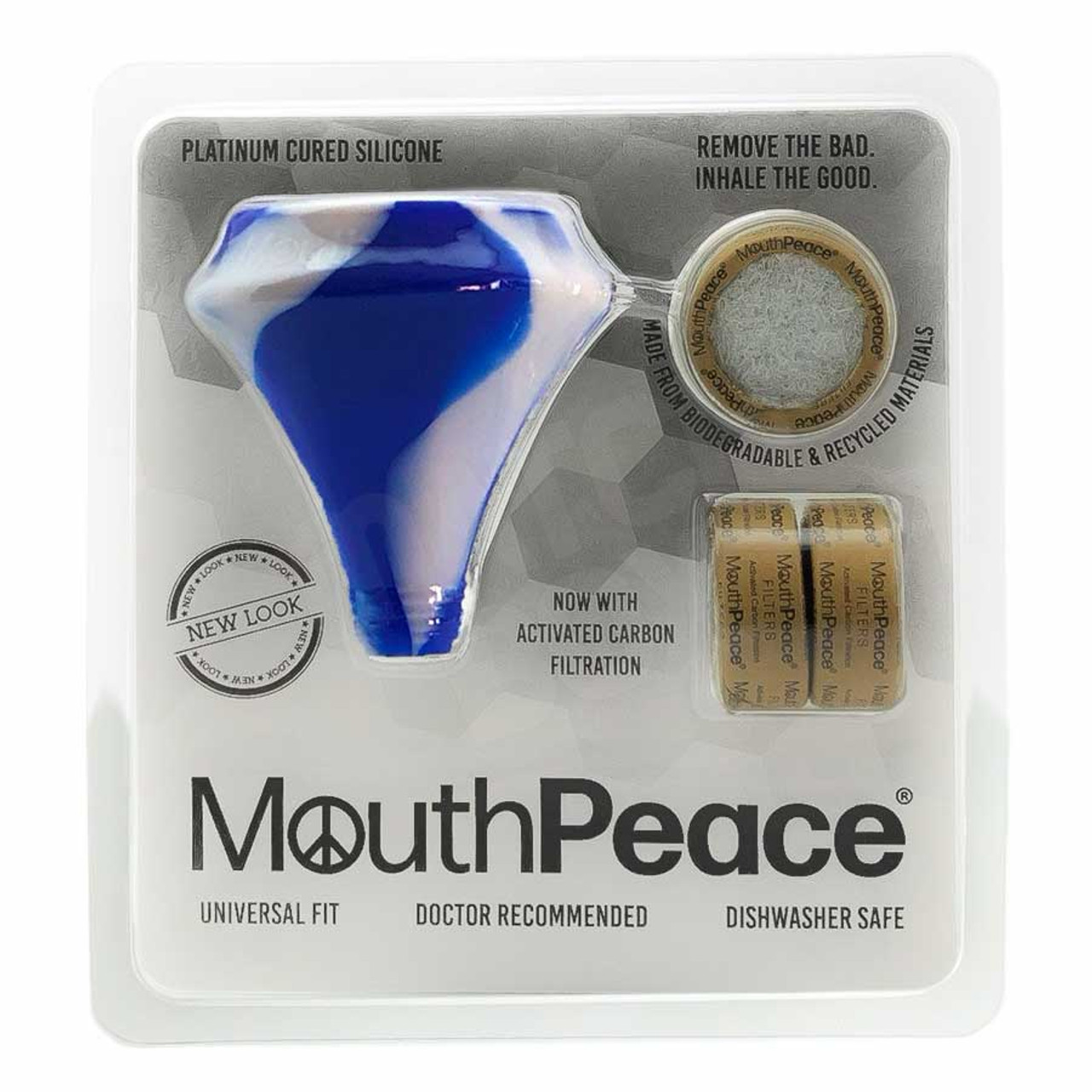MouthPeace by Moose Labs Starter Kit in Blue and White