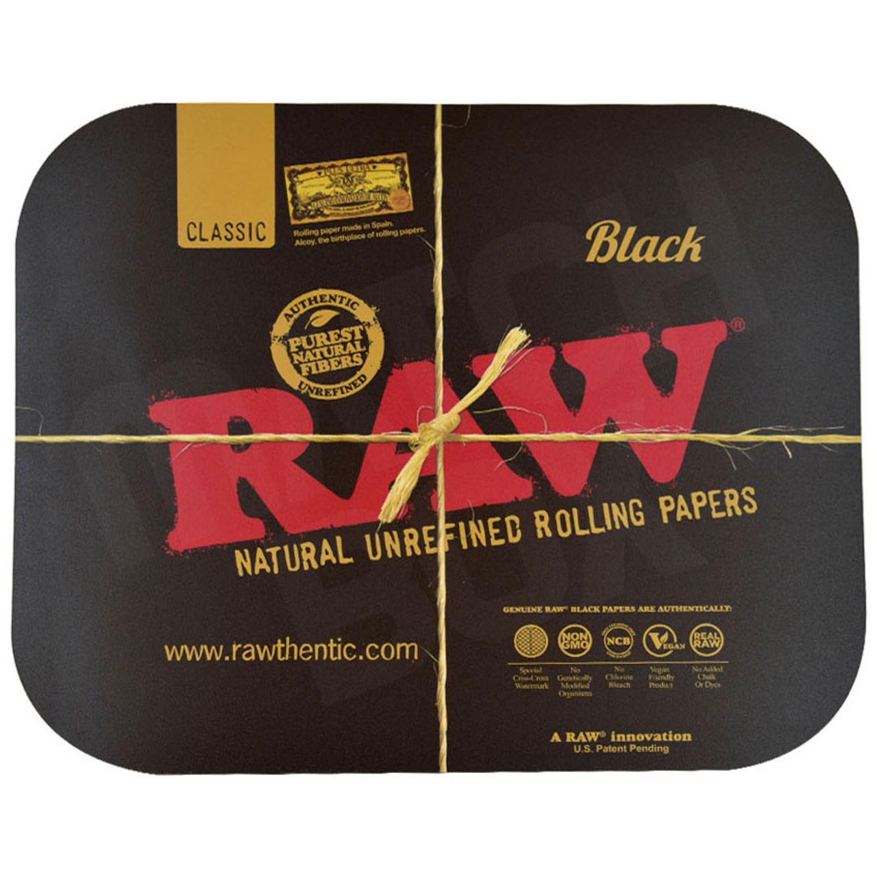 RAW MAGNETIC TRAY COVER BLACK LARGE