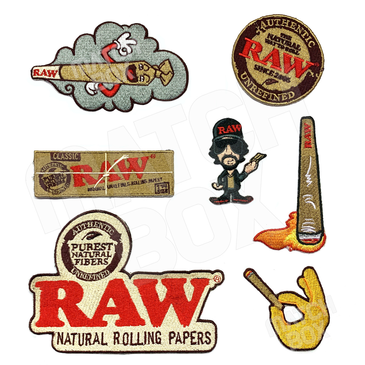 RAW Smokers Patch Collection - Set of 7