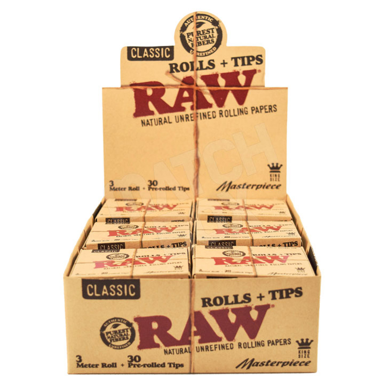 RAW Masterpiece KS Rolls with Prerolled Tips
