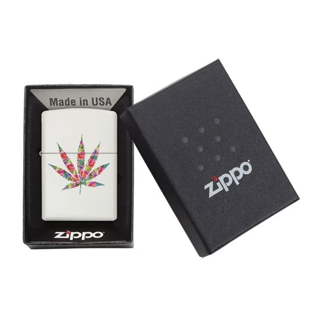 Zippo Floral Weed Design