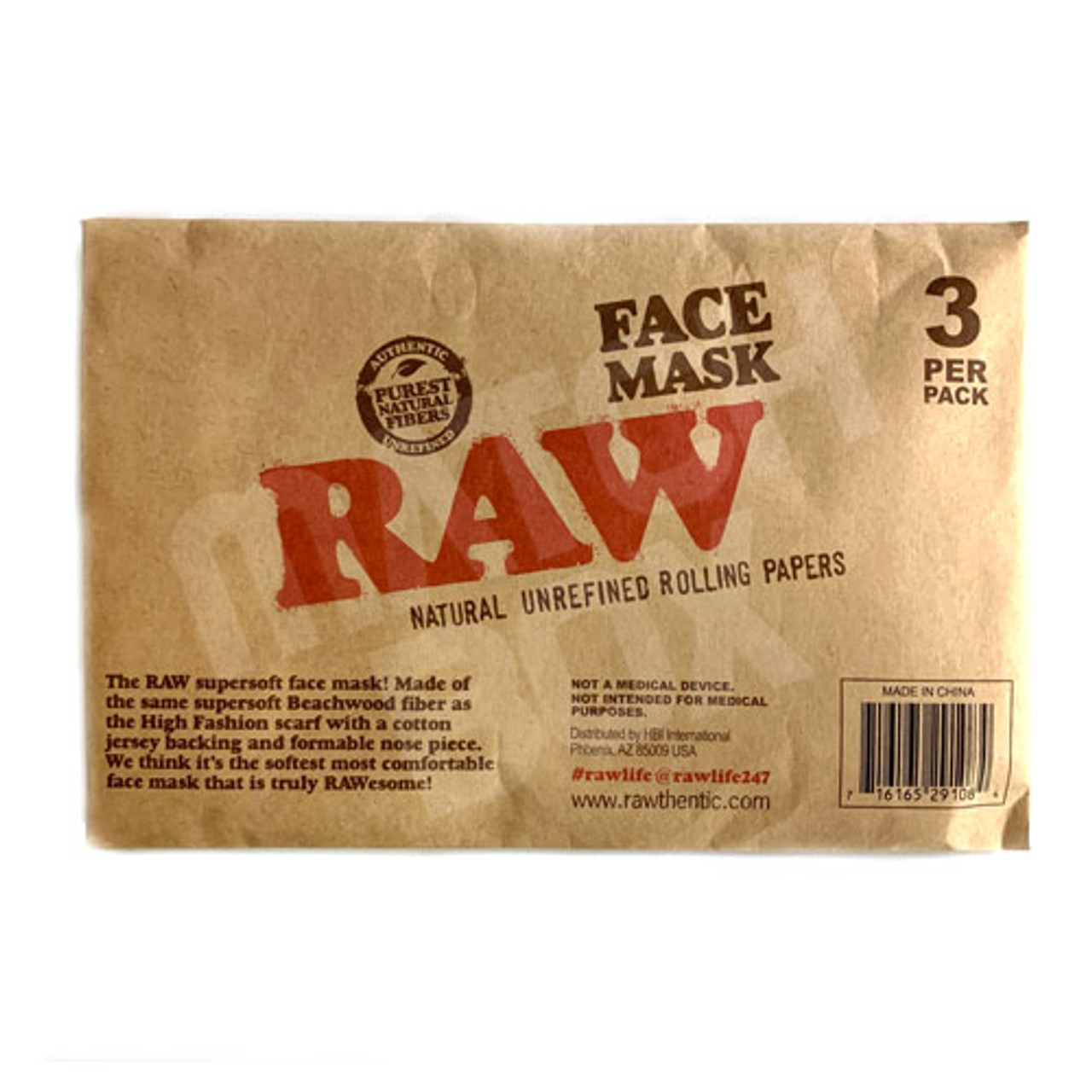 RAW Face Mask 3-Pack