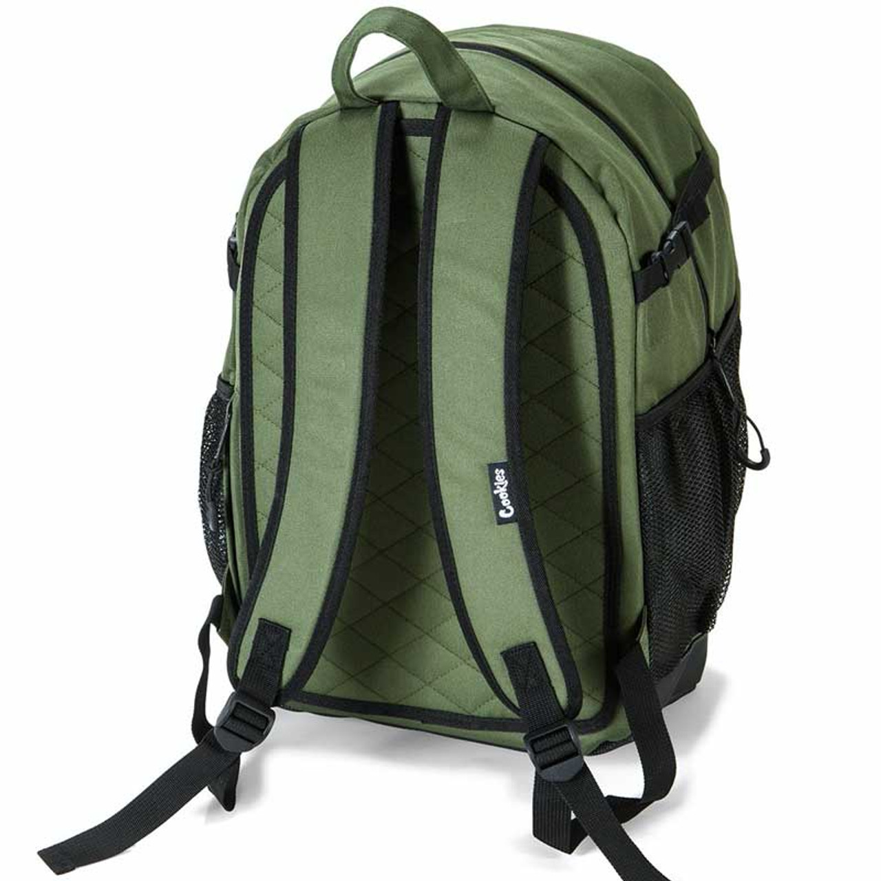 The Bungee Backpack in Olive by Cookies SF