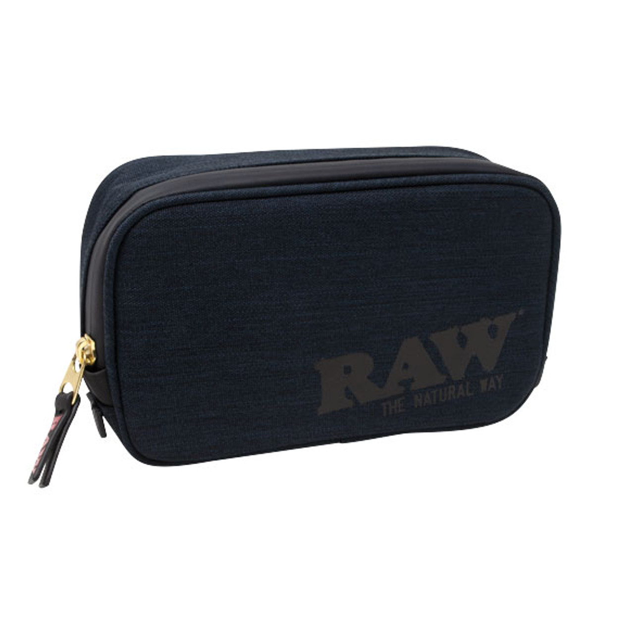 RAW Black Smell Proof Smokers Pouch v2