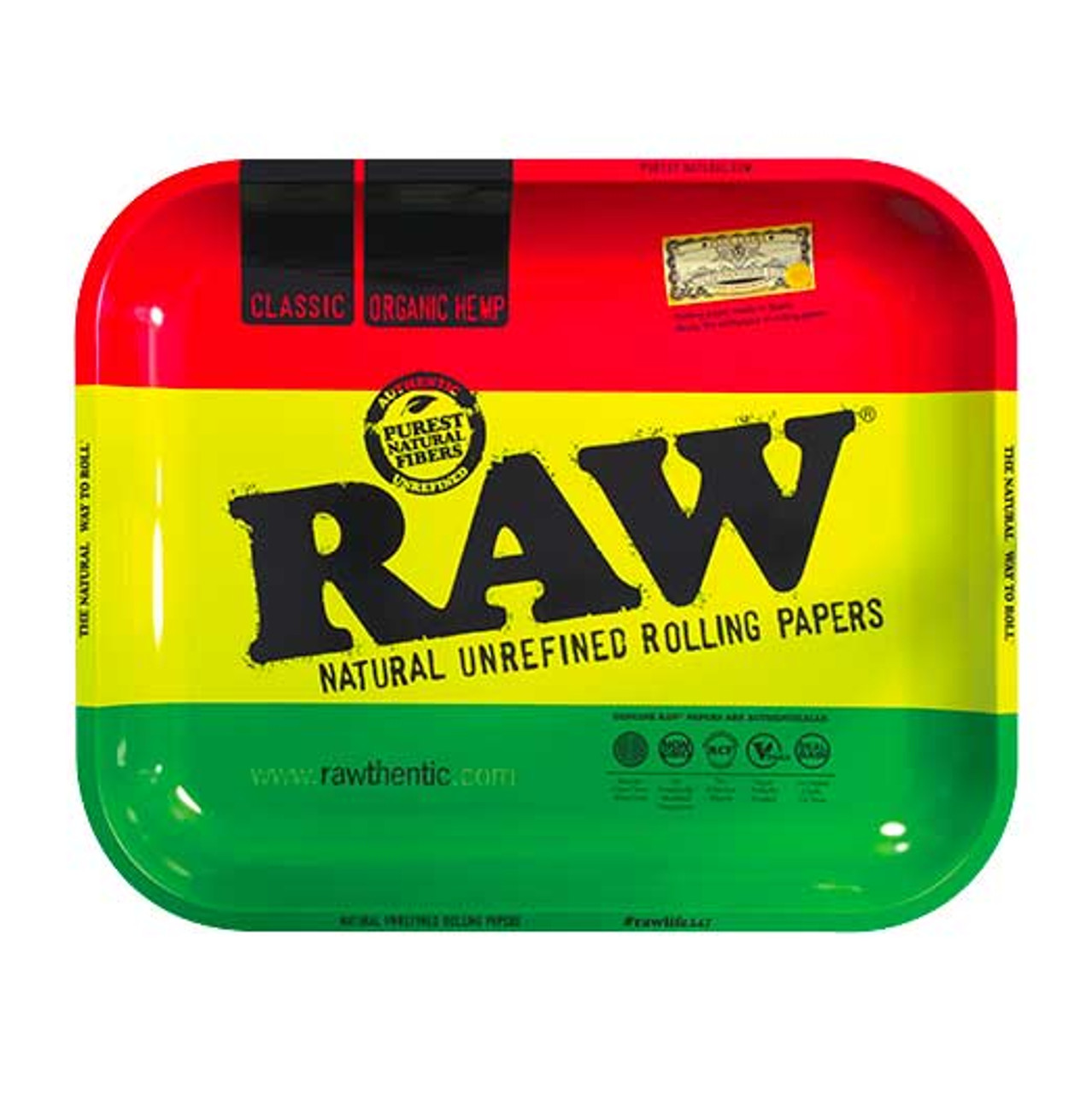 RAW Rasta Rolling Tray