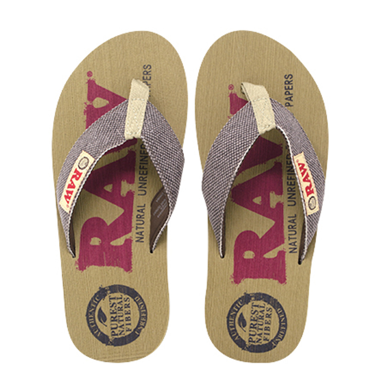 RAW x Rolling Paper Thong Slippers