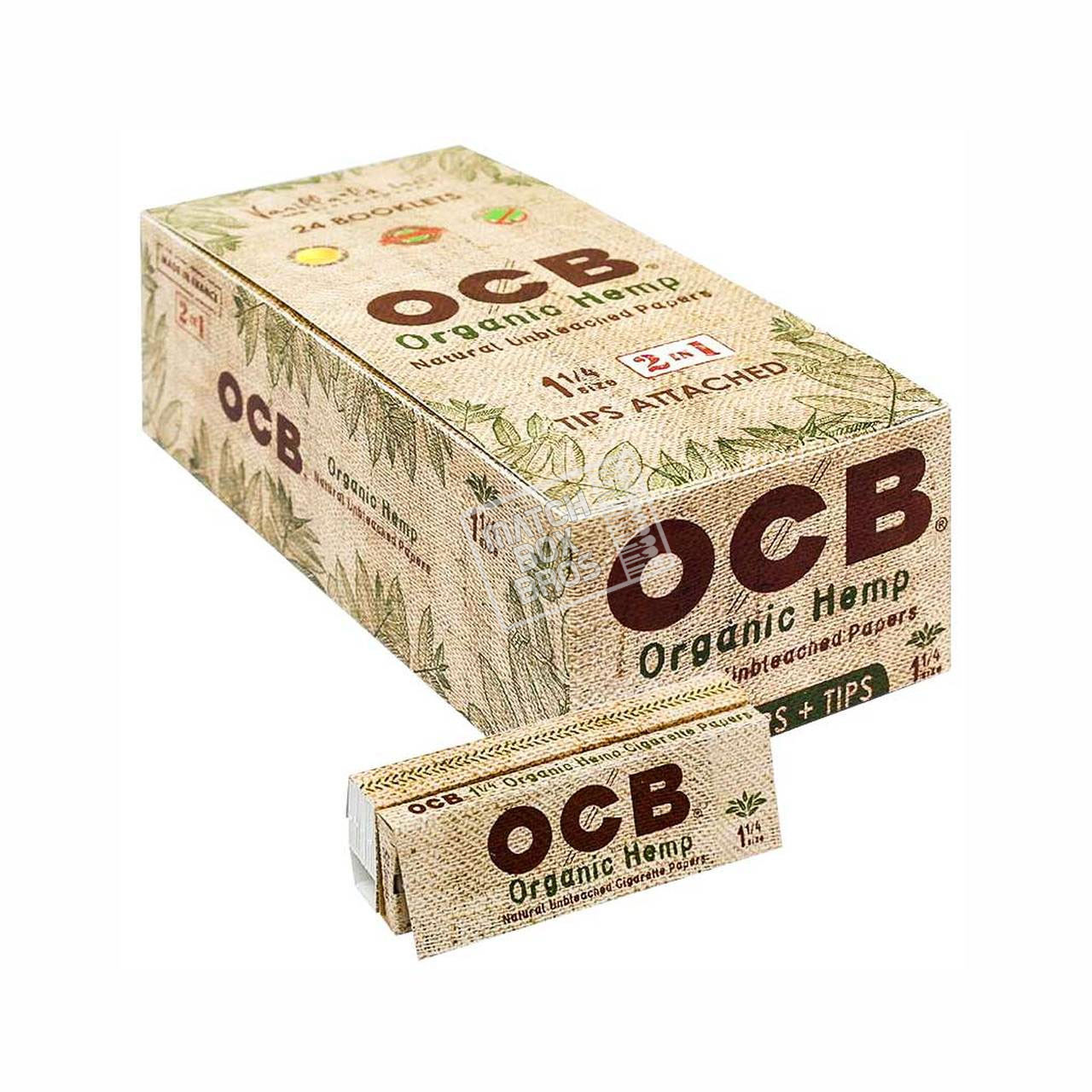 OCB Organic Hemp 1¼ Paper + Tips