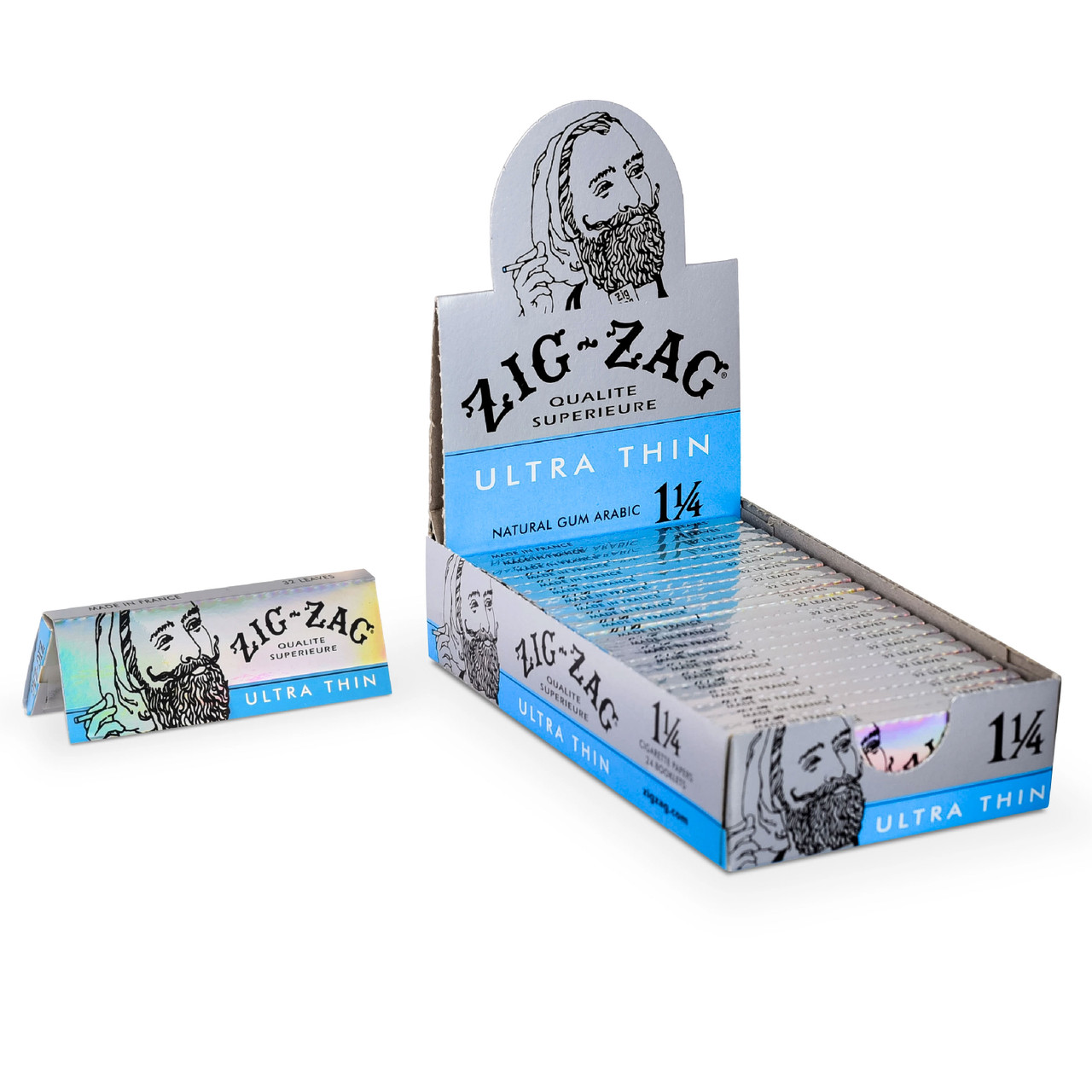 Zig Zag Ultra Thin 1 1/4 rolling papers box