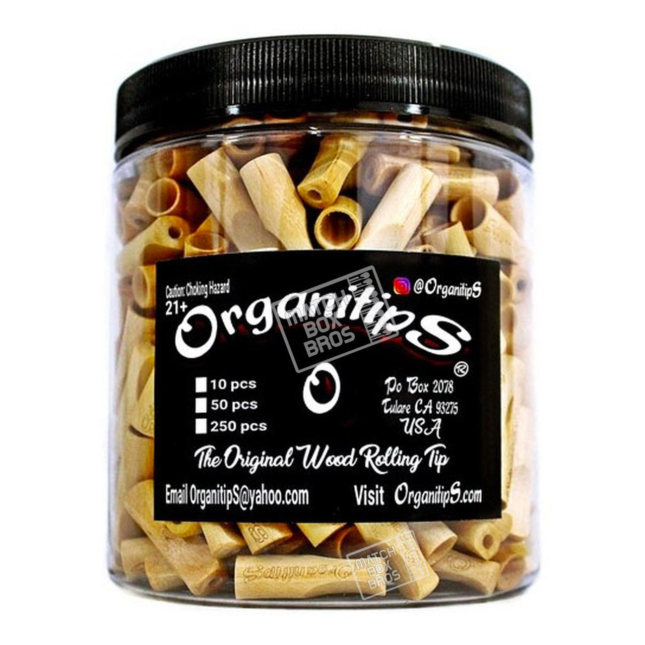 Organitip Woodtip Jar 250ct