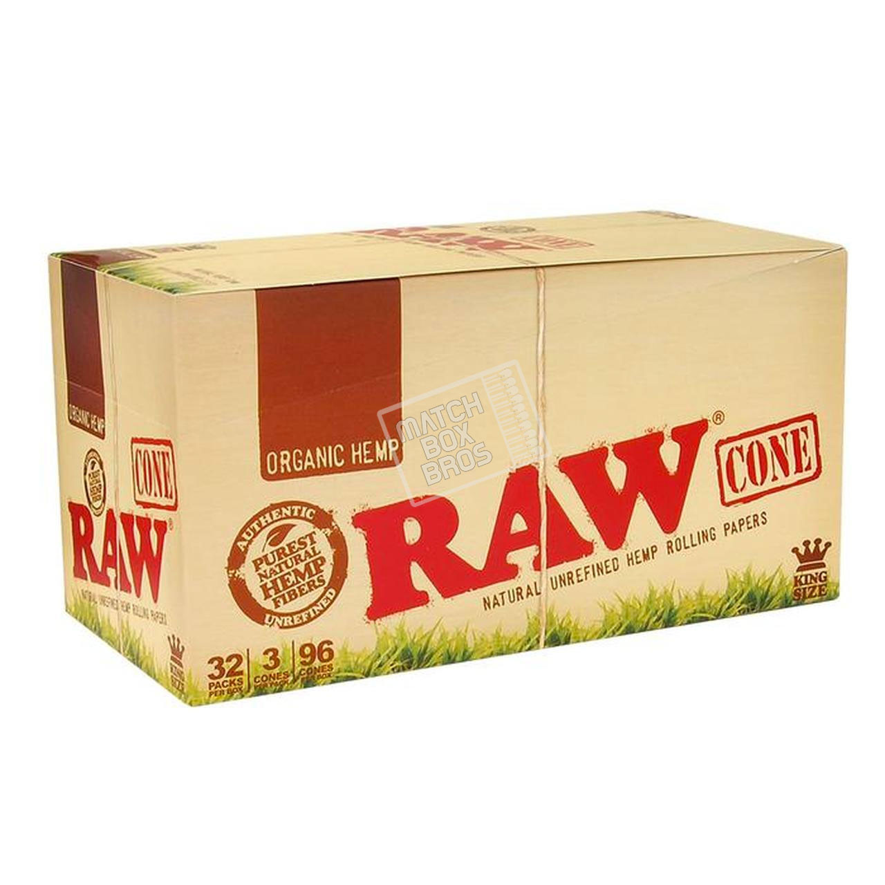 RAW Cone Organic King Size - 32 pack sealed box