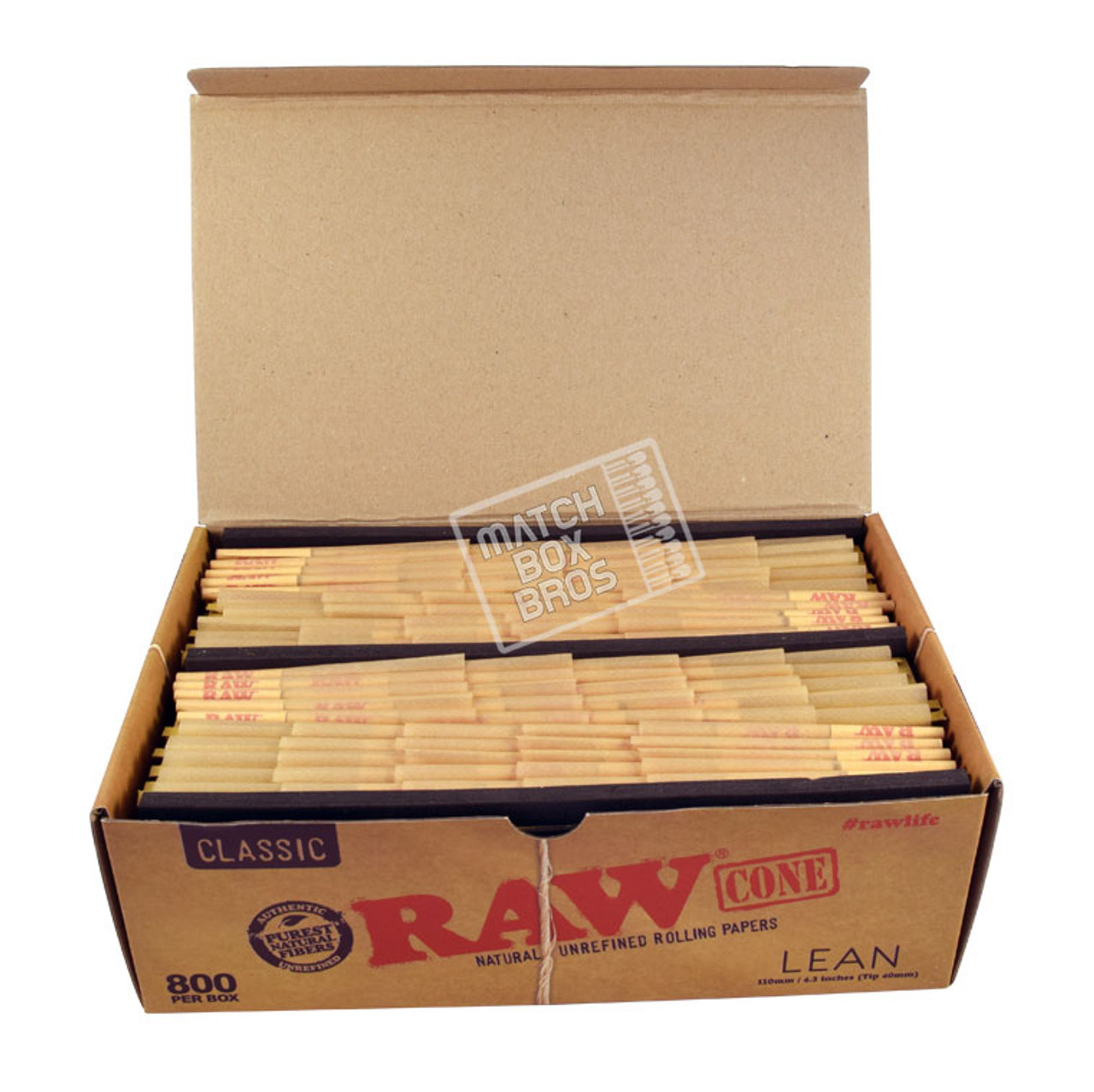 RAW Cone Lean Size Bulk 800ct Box 02