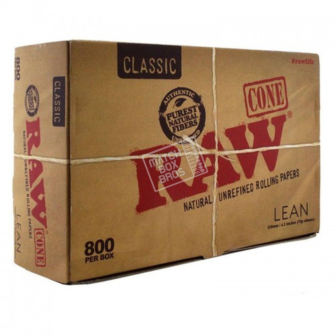 RAW Cone Lean Size Bulk 800ct Box 01