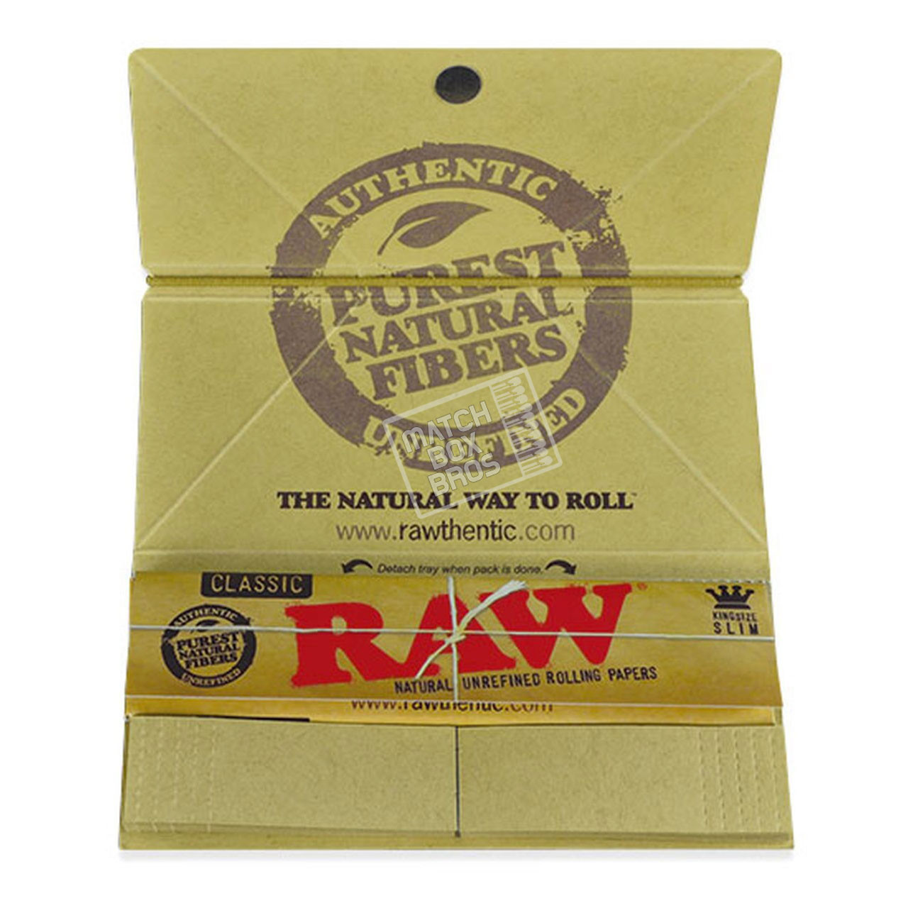 RAW Classic Artesano King Size Rolling Paper Sealed Box Top