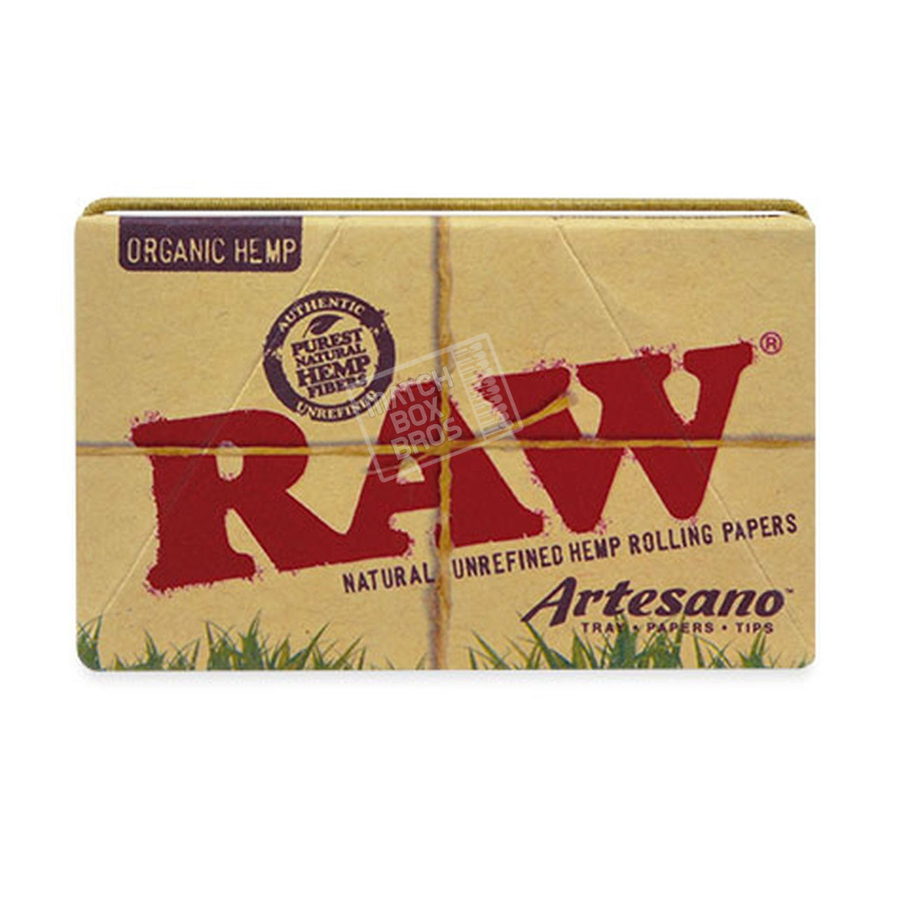 RAW Organic Hemp Artesano 1 1/4 Rolling Paper Sealed Box Front