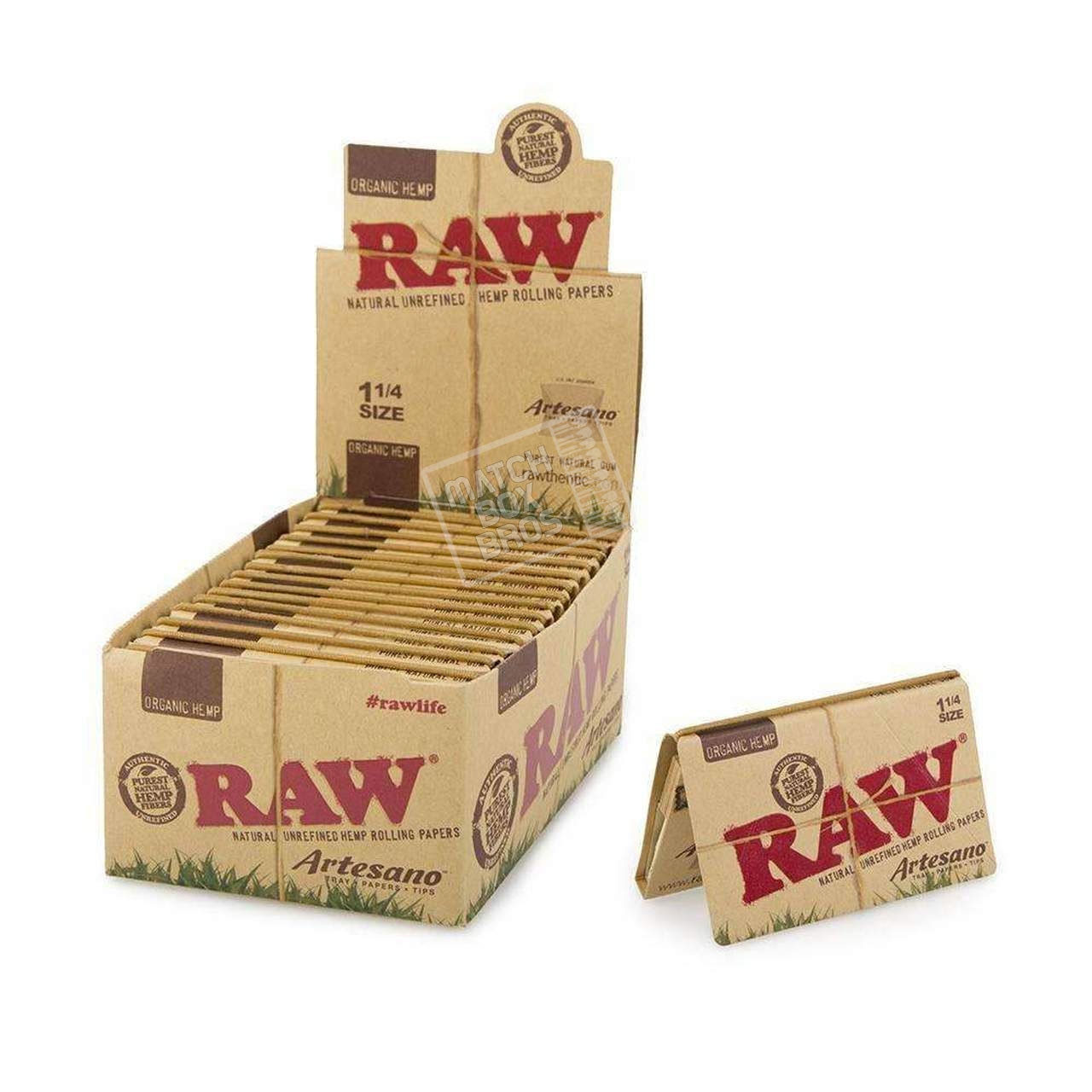 RAW Organic Hemp Artesano 1 1/4 Rolling Paper Open Box