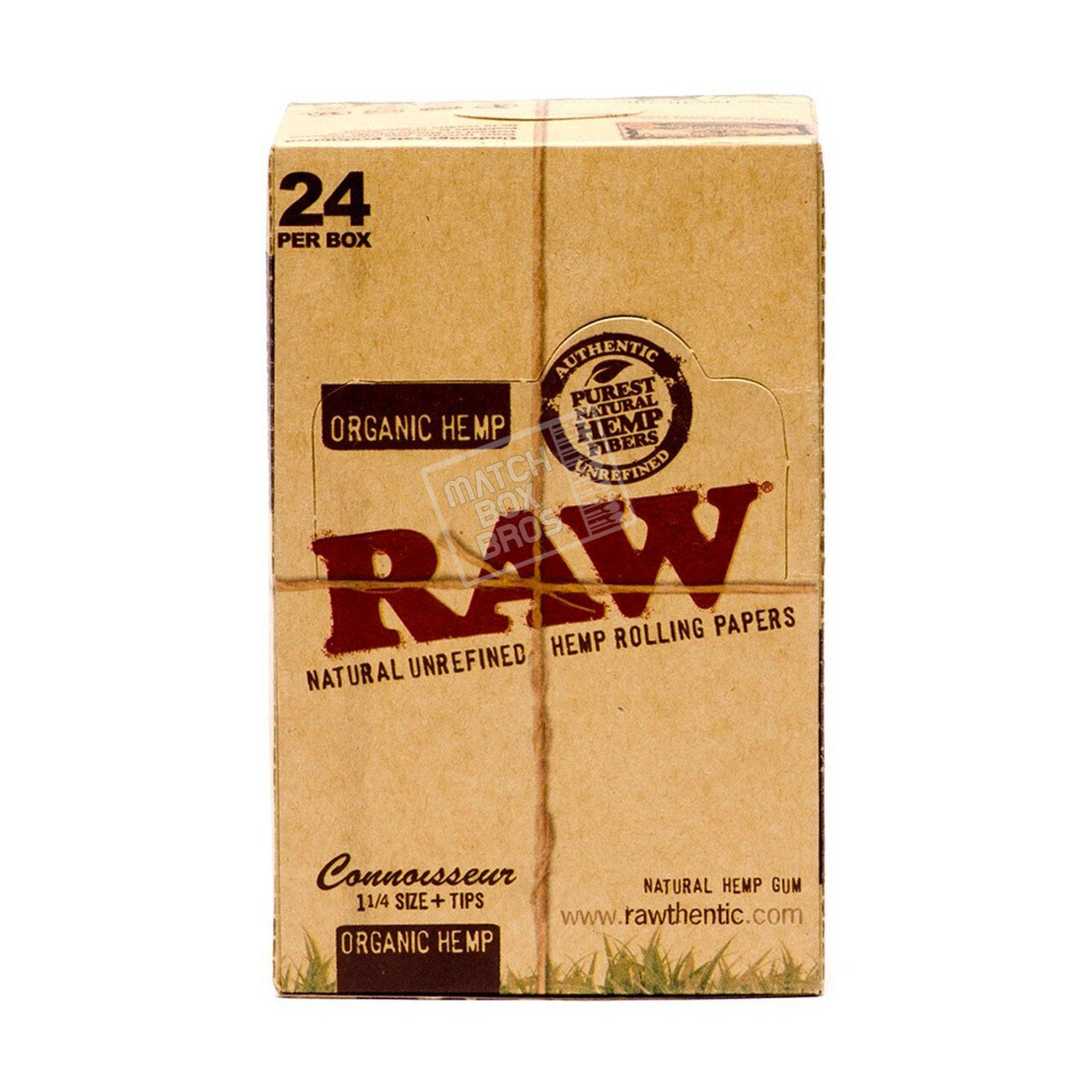 RAW Organic Hemp Connoisseur 1 1/4 Paper + Tips box