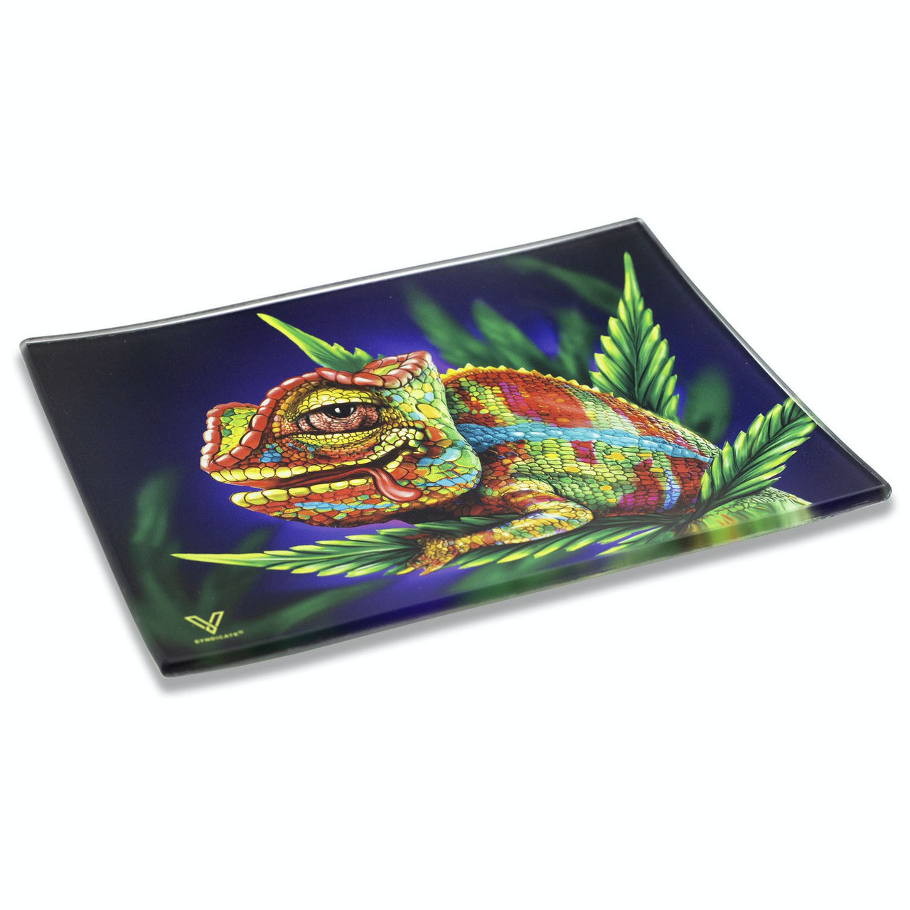 CHAMELEON GLASS TRAY SMALL SIDE PROFILE